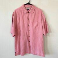Tommy Bahama 100% SILK Dress Shirt Button Down MEDIUM EUC Men's Hawaiian Shirt