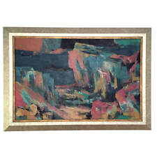 Framed Abstract Painting by C.C Wang