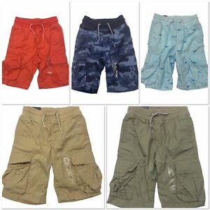 NWT GAP Boys Pull-On Cargo Shorts Sz S-M-L Beige Blue Green Red 100% Cotton