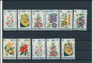 D121281 Indonesia Flowers Nice selection of MNH stamps