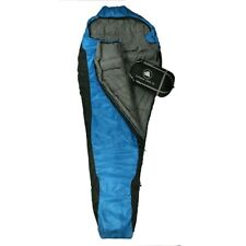 10T Innoko 300XL - Saco formato momia individual, 230 x 85/55 cm, negro/azul, sa