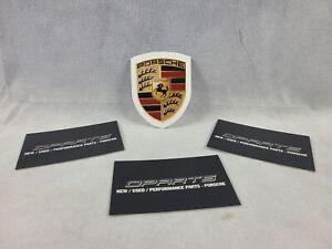 Porsche Genuine Crest Sticker Decal 996 986 944 993 911 964 Carrera 65x50mm NEW