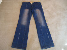 BOOTCUT JEANS RHINESTONE STUDDED STRETCH SEXY SLIMMING SIZE 9