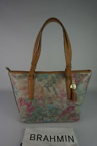Authentic Brahmin Medium Asher Creme Talitha Leather Tote----NWT $325