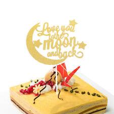 Love Moon Birthday Wedding Valentine's Day Cake Topper Party Cake Decorating