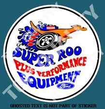 VINTAGE SUPER ROO PERFORMANCE DECAL STICKER VINTAGE HOT ROD ROD DECALS STICKERS