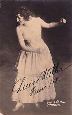 LUISE WILLER opera mezzo-soprano signed photo as Carmen, 1918
