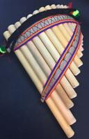 Handmade Peruvian Curve Chill Pan Flute 13 Pipes Professional Native Gift