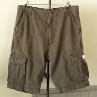 Men's Levi's Cargo Shorts 6 Pocket 100% Cotton Zip Fly Metal Logo Buttons Sz 38
