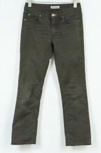 Acne Jeans Hex Marron Ups Pantalon Noir Femmes Taille W29 L28