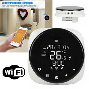 Smart LCD WiFi Voice Control Central Heating Thermostat Alexa & Google Home uk g