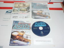 BLAZING ANGELS: SQUADRONS OF WWII game complete in case w/ manual Nintendo Wii