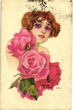 "Metlicovitz - ""Donnina"" e Rose, Pretty Lady with Roses - Moda, Fashion - M098"