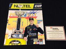 Kurt Busch Signed Autograph 8x10 Photo Nascar Fanatics COA - Roush Racing Ford