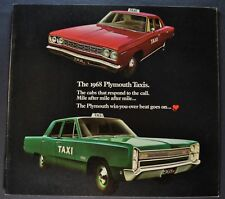 1968 Plymouth Taxi Catalog Brochure Belvedere Fury Excellent Original 68