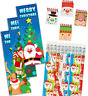 Pack of 36 Christmas Stationery Pack, Pencils Bookmarks Notebooks Xmas Fillers