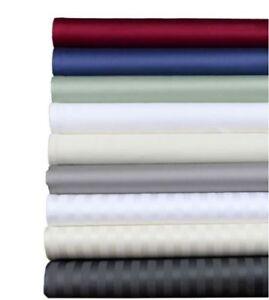 1000TC Egyptian Cotton 5PC Split Sheet Set AU Queen Size Solid/Stripe Colors;