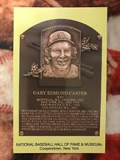 Gary Carter Postcard - Baseball Hall of Fame Induction Plaque - Cooperstown