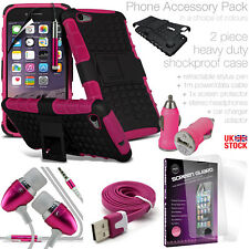 SAMSUNG GALAXY PHONE HEAVY DUTY TOUGH SHOCKPROOF CASE COVER+MULTI ACCESSORY PACK