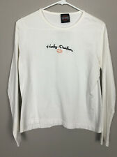 Harley Davidson Womens White Long Sleeve Motorcycle Size M(?)- See Measurements