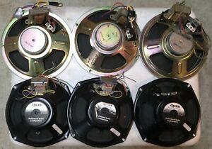 6 Used Speakers ~ QUAM C5 & Goldwood Sound GW-8001/8 with Transformers