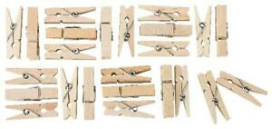 48 Holz Deko Klammern 3,5cm Mini HolzKlammern Wäscheklammern Deko Klammern