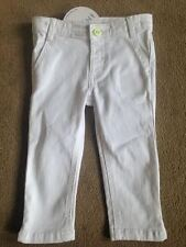 M&S Collection Indigo Blanc Jeans Moulant 2-3 Years Taille Réglable