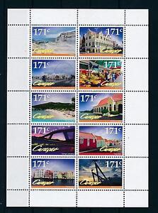 [CU094] Curacao 2012 Tourism Landscapes Sheet MNH