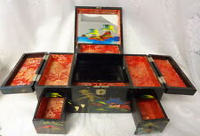 Old  Asian Japan Lacquer Music Jewelry Box