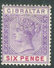 Gibraltar 1898 Violeta/Rojo 6d SG44 Perfecto