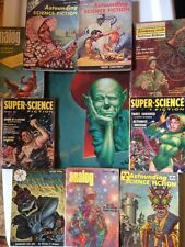 COOL ALIENS Sci Fi Lot COVERS by KELLY FREAS 9 SF PULPS + SIGNED FREAS POSTER!