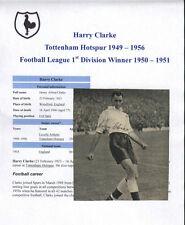 HARRY Clarke Tottenham Hotspur 1949-56 RARA MANO firmato