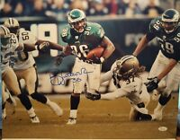 Brian Westbrook signed Eagles 16x20 photo JSA WITNESSED COA