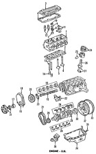 Genuine GM Oil Pump & Pickup 88984187 Chevrolet S10 & GMC Sonoma 1994-03 2.2L L4