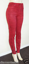 GUESS Women's 1981 High-Rise Red Skinny Jeans in Landscape Wash sz 23