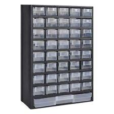 Plastic 41 Bin Wall Mount Storage Rack Tool Cabinet
