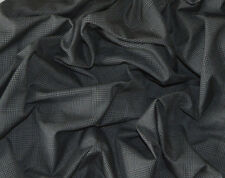 BLACK & GREY HEAVY POLY VISCOSE CHECK FABRIC - CLEARANCE PRICE