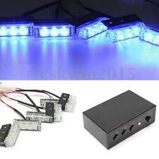 18LED Blue Police Car Vehicle Strobe Dash Emergency Warning Flash Light Lamp Bar