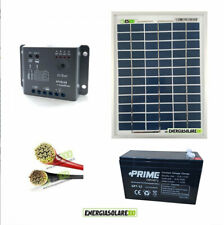 Kit placa solar 5W 12V regulador de carga 5A Batería 7Ah cables solares caravana
