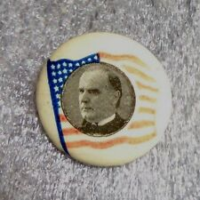 old celluloid pin back button McKinley campaign