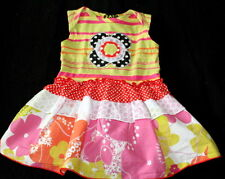 ZAZA COUTURE Outfit~Girl's Size 9 Months~ADORABLE! Floral Striped EUC