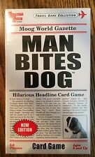 """""""Man Bites Dog"""" Headline Card Game, Family Fun, Great Stocking Stuffer NIB"""