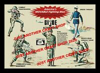 GI Joe Vintage 1964 Action Marine Poster Shop Display Sign Advert A3 size