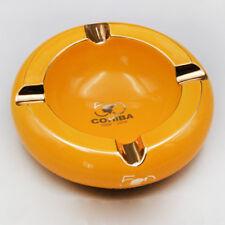 COHIBA High Class Yellow  Porcelain Roundness 4 Slots Big Cigar Ashtray