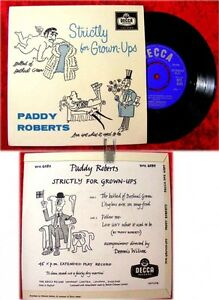 EP Paddy Roberts Strictly for Grown-Ups (1963)