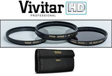 NEW 3PC HD FILTER KIT (POLARIZER, UV & FLUORESCENT) FOR PANASONIC LUMIX DMC-LX3