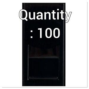 Triax 304289 Cat6 Euro Module Insert BLACK 25x50mm BOX of 100 !CLEARANCE!