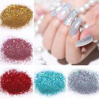 10g Holographic Nail Powder Glitter Shining Shimmer Colorful Nail Art Decors