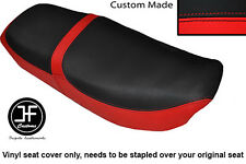 RED & BLACK VINYL CUSTOM FOR HONDA CB 650 SC NIGHTHAWK 82-85 DUAL SEAT COVER