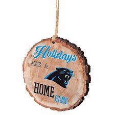 Carolina Panthers Christmas Tree Ornament Stump New - Holidays are a Home Game